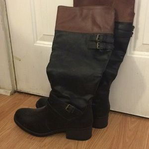 Shoes - Black and Tan riding boots. Size 8.5